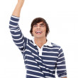 Handsome man pointing up — Stock Photo #7007422