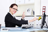 Bussines woman at work. — Stock Photo
