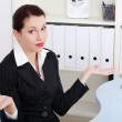 Beautiful business woman can't find a solution. — Stock Photo #7841485