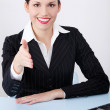 Greeting businesswoman. — Stock Photo