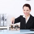 Businesswoman choosing the right worker. — Stock Photo