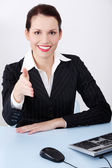 Greeting businesswoman. — Foto Stock