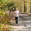 Royalty-Free Stock Photo: Couple walking in the park.