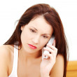 Worried woman talking on the phone. — Stock Photo #7866068