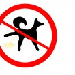 Prohibition sign for dog piss — Stock Photo
