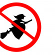Sign banning flying witches — Stock Photo #7227698