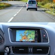 Travel by car with gps system - Stock Photo