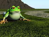 Frog cartoon — Stock Photo