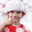 Child with Santa Hat — Stock Photo