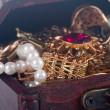 Chest with treasures — Stock Photo #7052894