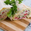 Royalty-Free Stock Photo: Pita roll with crab sticks