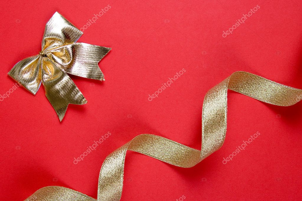 Christmas decor on a red background — Stock Photo #7211970