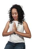 женщина, молящаяся — Стоковое фото