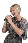 Woman Singer — Stock Photo