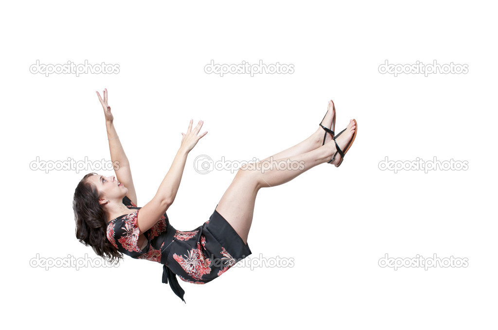 Woman Falling Through the Sky - Stock ImageGirl Falling From Sky Drawing
