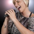 Woman Singer — Stock Photo #7117918