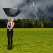 Woman Holding Umbrella — Stock Photo #7117981