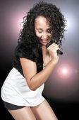 женщина - певец — Стоковое фото