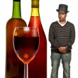 African American Man with Wine — Stock Photo