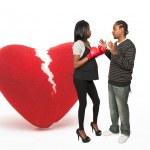 corazón y boxeador embarazada hombre — Foto de Stock