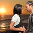 Expecting parents Black African American couple — Lizenzfreies Foto