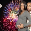 Stock Photo: Expecting parents Black African American couple