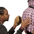 Expecting parents Black African American couple - Stock Photo