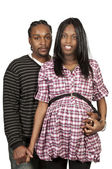 Expecting parents Black African American couple — Stock Photo
