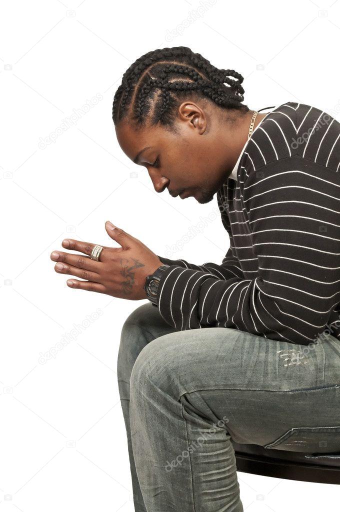 Black man praying — Stock Photo © robeo123 #7891826