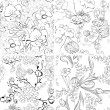 Set of floral seamless wallpaper — Stock Vector #6849979