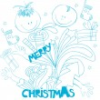 Stock Vector: Doodle style christmas background