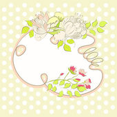Decorative background with floral element — Stock Vector