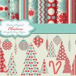Set of Christmas vector paper and clip art for scrapbook — Stock Vector #6925864