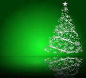 árvore de natal estilizada vector — Vetor de Stock