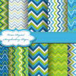 Set of zig zag vector paper for scrapbook — Stock Vector