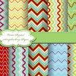 Stock Vector: Set of zig zag vector paper for scrapbook