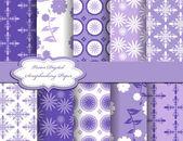 Set of flower vector paper for scrapbook — Stock Vector