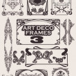 Set Of Art Deco Frames. Others In Portfolio. - Stock Vector