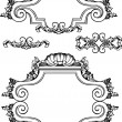 Stock Vector: Vector Antique Vintage Frames And Elements. Isolated On White Fo