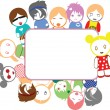 Color Emo Kids Frame — Vector de stock #7052503
