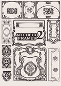 Set art deco frames. anderen in portefeuille. — Stockvector