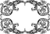 Vector Antique Vintage Frame. Isolated On White For Design. — Stock Vector