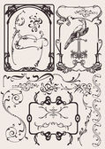 Set Of Art Deco Frames And Design Elements. Others In Portfolio. — Vector de stock