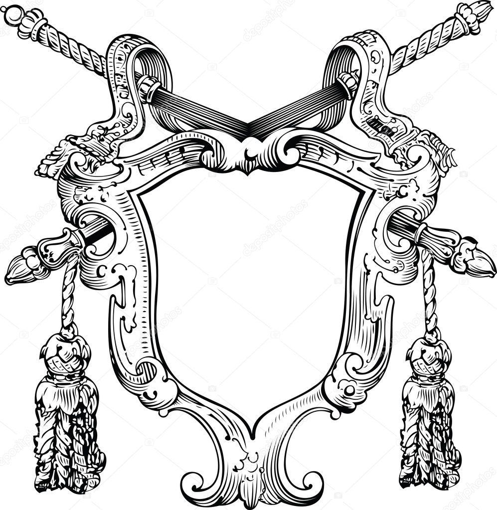 how to turn heraldic shield
