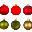 Real Christmas Balls set. — Stock Photo