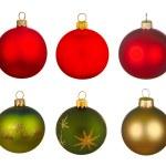 Real Christmas Balls set. — Stock Photo