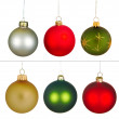 Real Christmas Balls set. — Stock Photo #7380455
