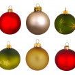 Real Christmas Balls set. — Stock Photo #7380458
