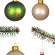 Real Christmas Balls set. — Stock Photo #7380460