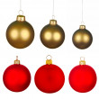 Real Christmas Balls set. - Stock Photo